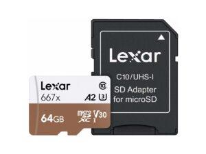 Lexar Professional 64Gt 667X microSDXC