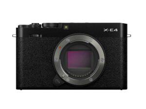 Fujifilm-X-E4-runko-musta